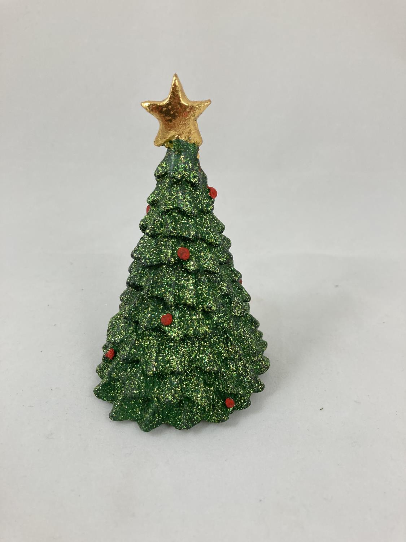 Juletre grønn glitter med stjerne