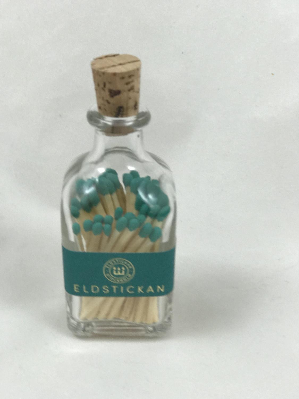Fyrstikker i flaske,  Mørk Turkis