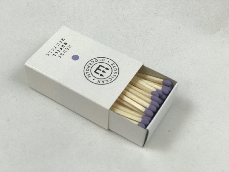 Refill fyrstikker lavendel/lilla