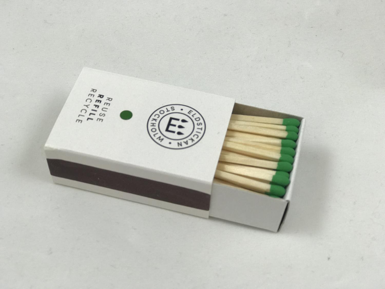 Refill fyrstikker grønn