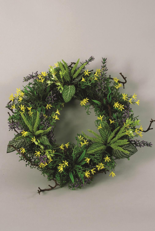Mixed Flower Wreath 35cm