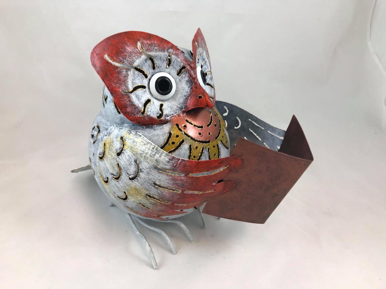 Ugle Hedwig med bok MEDUSA