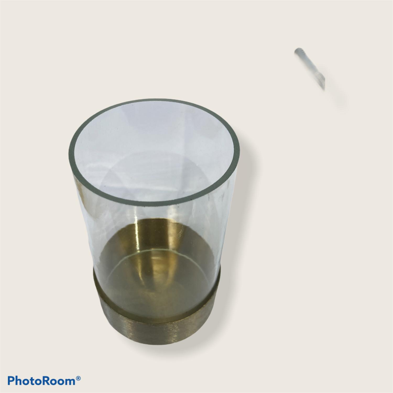 Glasslykt messingsokkel Ø6x10cm