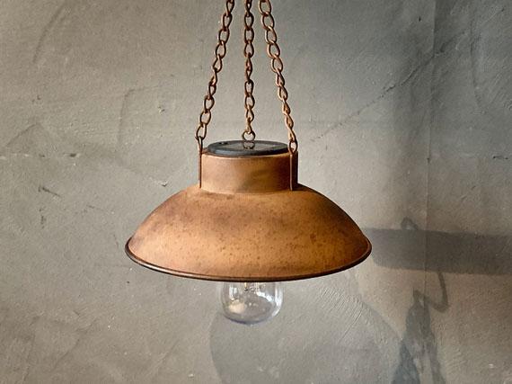 Lampe for oppheng,led, SOLCELLE. RUST