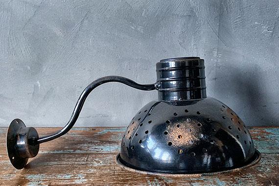 Lampe for vegg sort solcelle