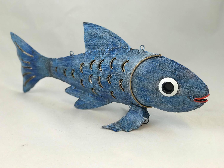 Fisk KARPE blå 39x18 cm