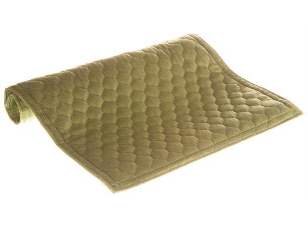 Brikke i velur, bikube, grønn 33x45cm