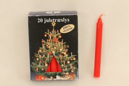 Juletrelys rød 20stk