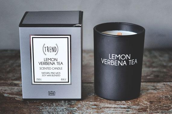 Duftlys m/ treveke. Lemon Verbena tea