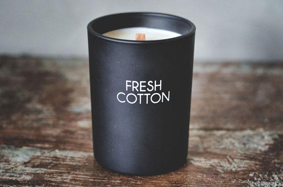 Duftlys m/treveke Fresh Cotton