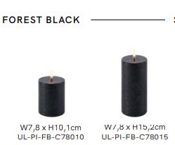 Ledlys, Uyuni kubbelys 7,8x15cm Forest Black