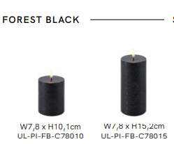 Ledlys, Uyuni kubbelys 7,8x10 cm Forest Black
