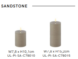 Ledlys, Uyuni kubbelys 7,8x15cm Sandstone