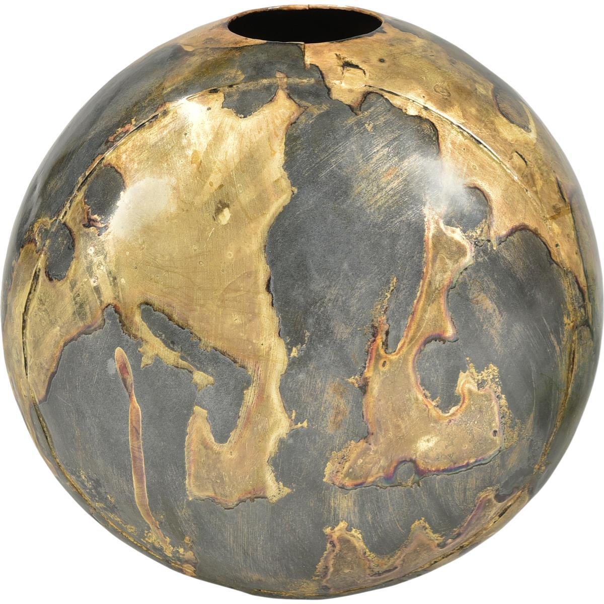 Vase BOSTON rund i metall 30x32x24cm