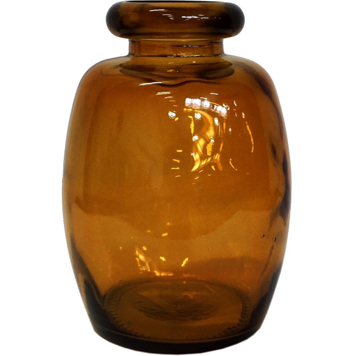 Glassvase Shape mørk Rav