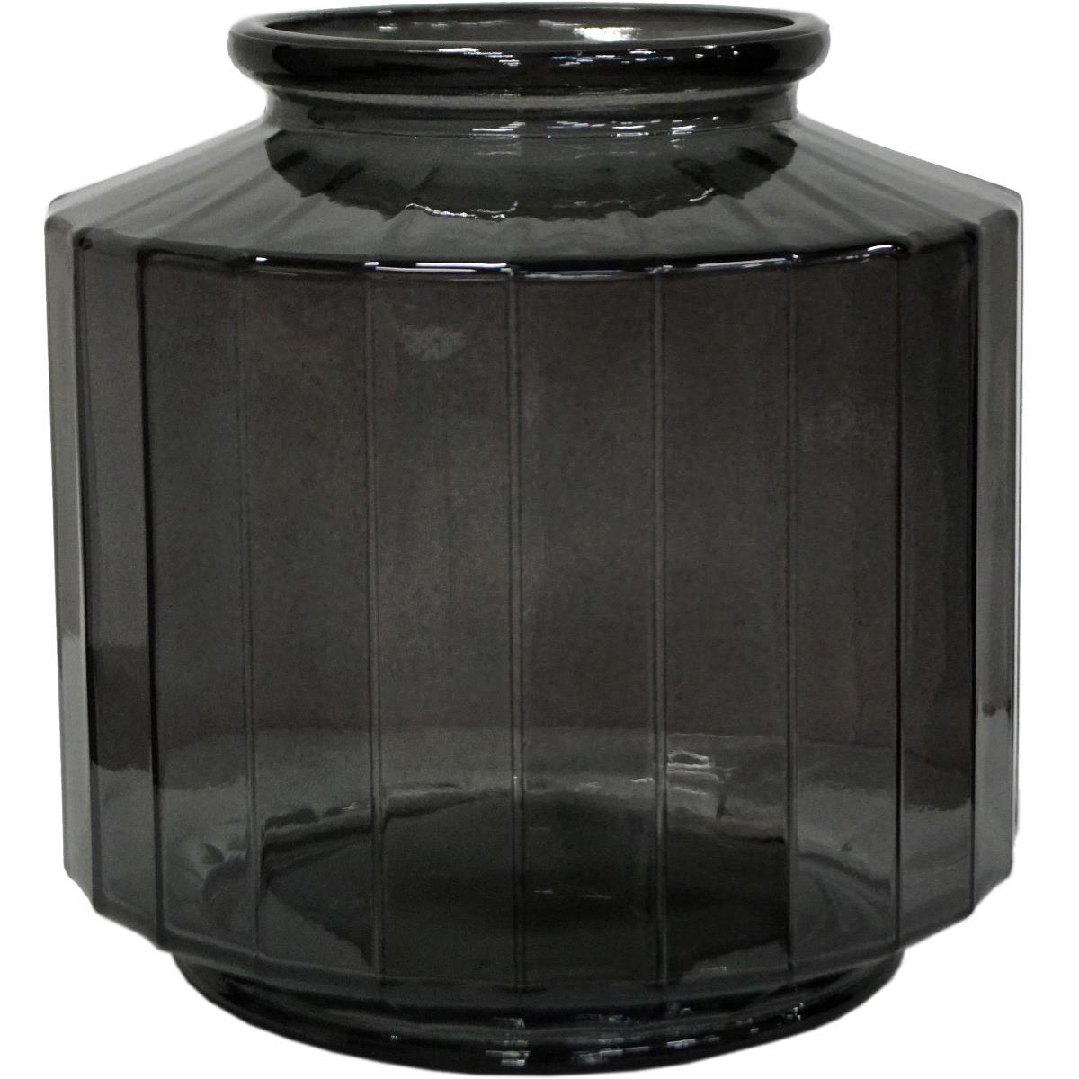 Vase, kantet The edge GRÅ