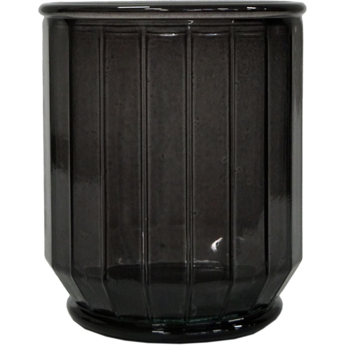 Vase/krukke, kantet The edge small -GRÅ