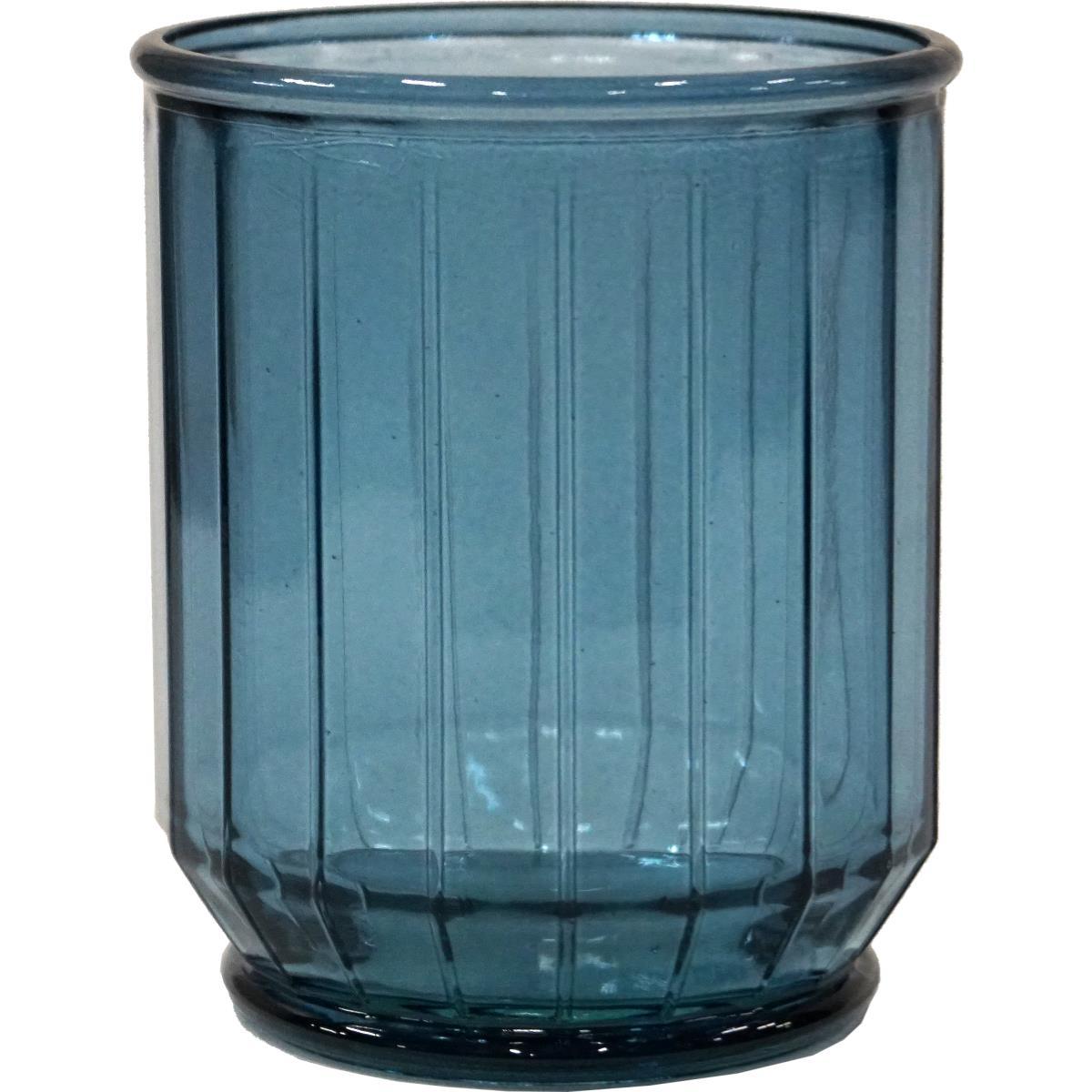 Vase/krukke, kantet The edge small -BLÅ