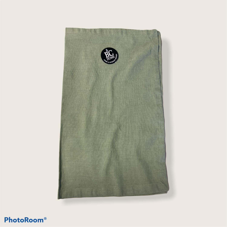 Brikke 33x45cm lin/bomull lys grønn