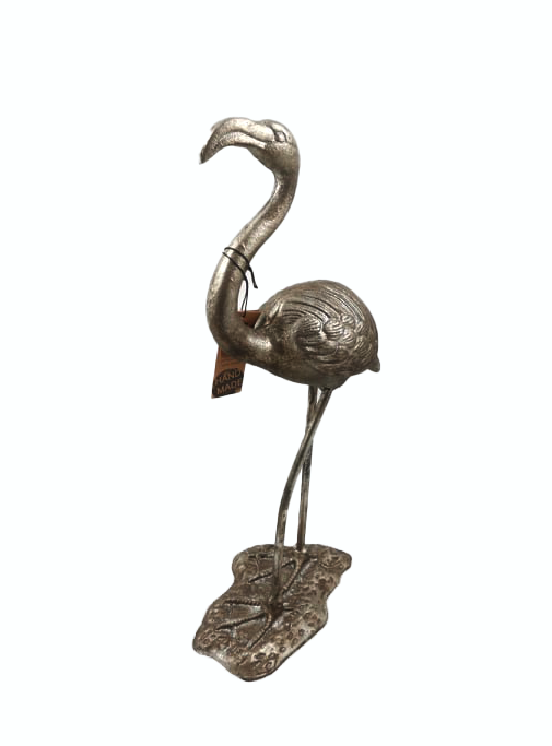 Flamingo, metall, Antikk sølv