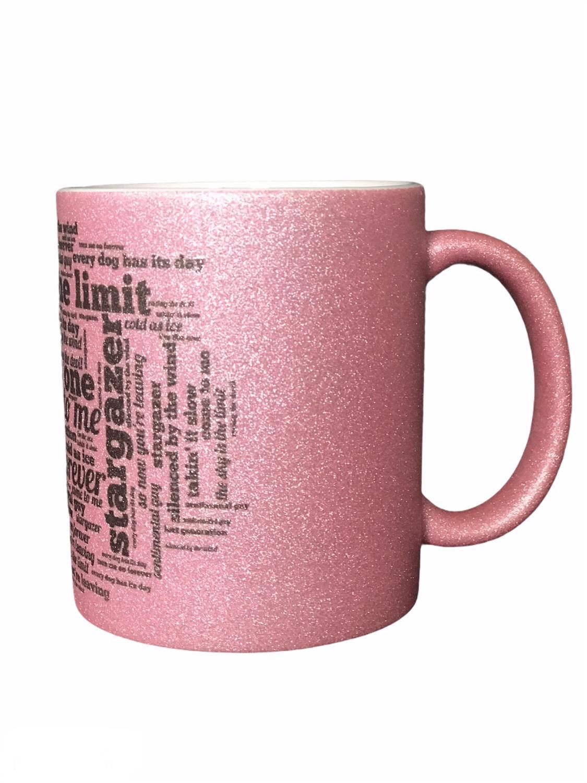 Stargazer,Glitter mug. The SKY...LTD ROSA 300ml