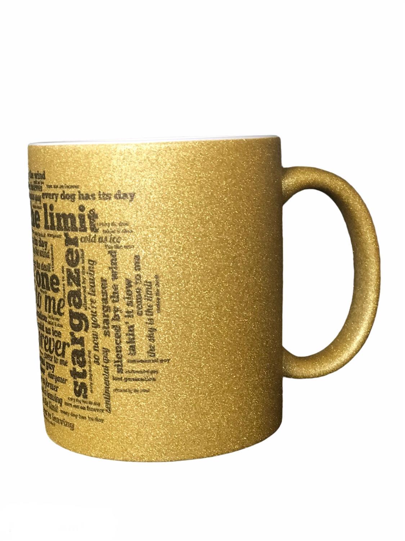 Stargazer,Glitter mug. SKY IS THE LIMIT- LTD GULL,