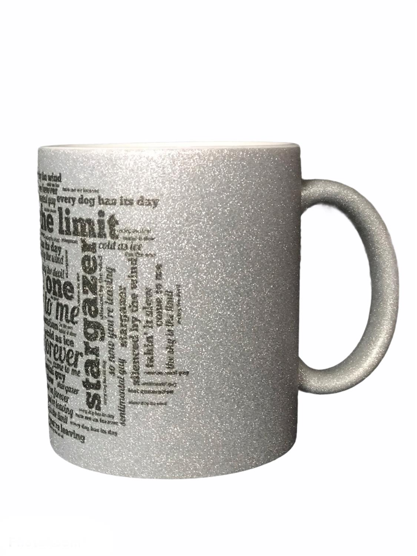 Stargazer,Glitter mug. SKY IS THE LIMIT- LTD SØLV,