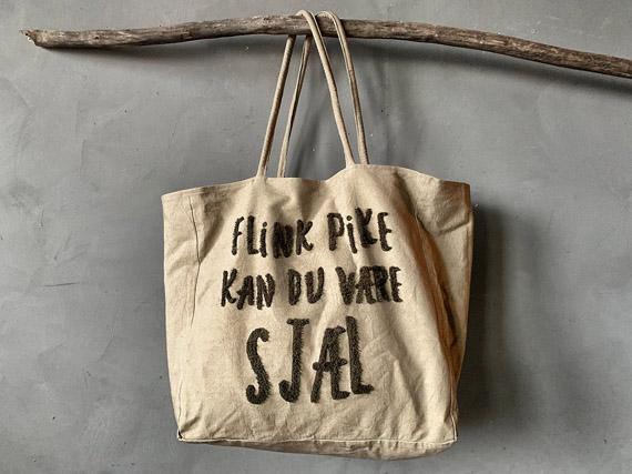 Veske Flink pike... GRØNN 50x50cm