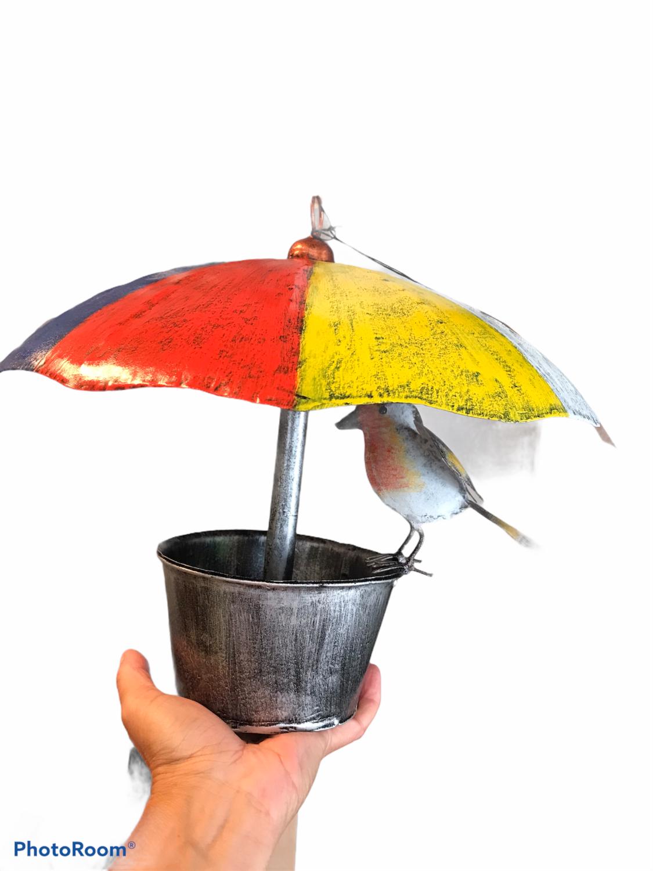 MEDUSA Fuglehus m/ paraply og rødstrupe