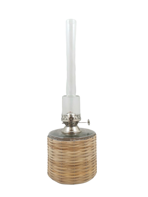 Parafinlampe nikkel  liten