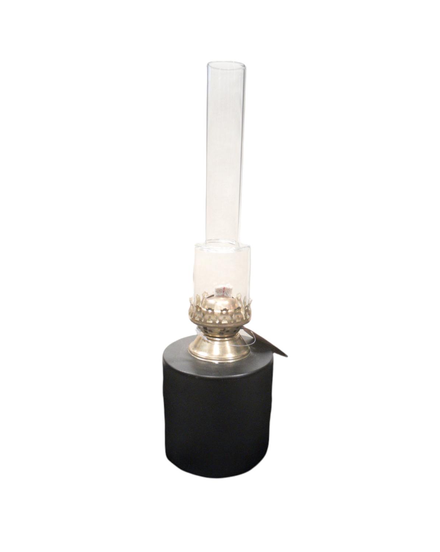 Parafinlampe svart liten