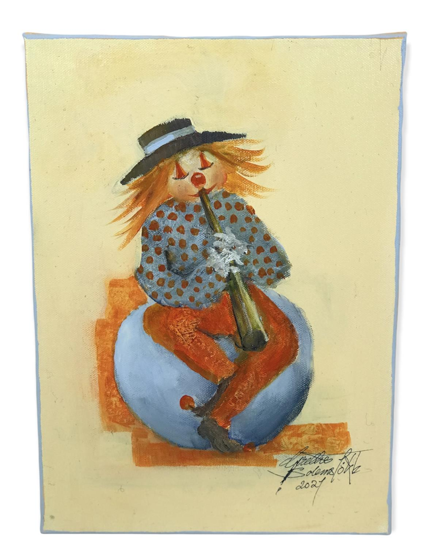Kunstmaleri, Orginal.  -KLOVN BIBO, Grethe S. Sole