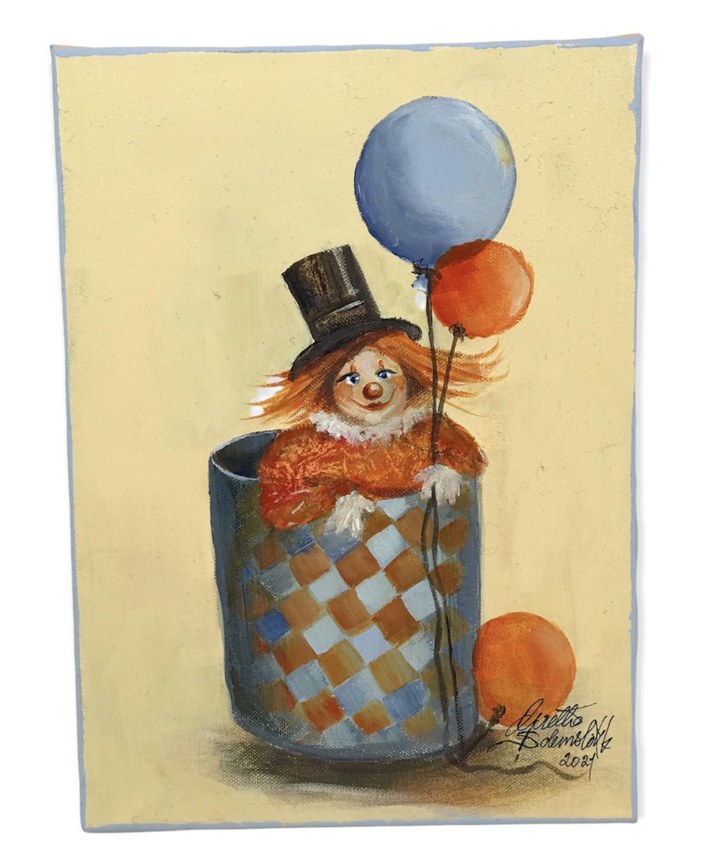 Kunstmaleri, Orginal.   -Klovn HAMILTON, Grethe S.