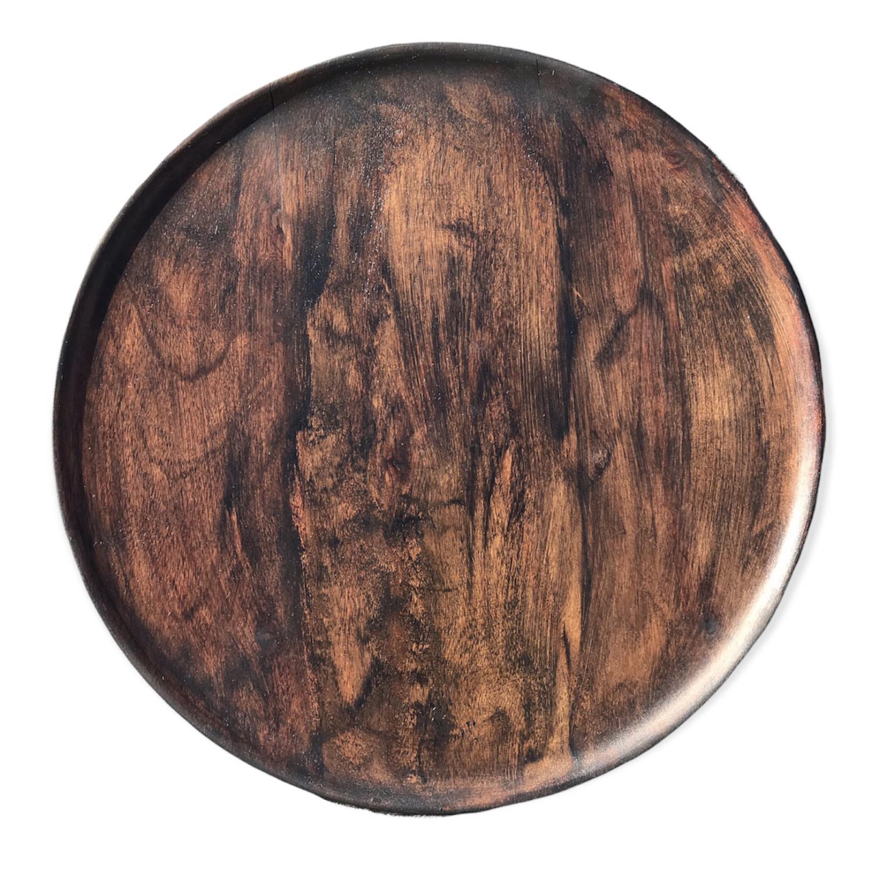 Trefat, brun oljebeis Diameter: 39cm