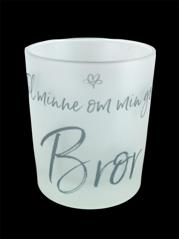 Lyskopp Til minne om min gode bror, frostet glass