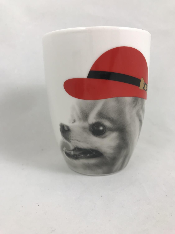 Krus hund med rød hatt