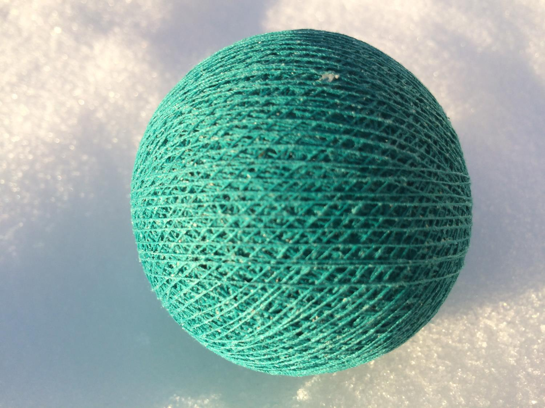 Cottonballs DARK TOURQUISE Ø7cm