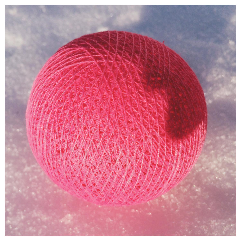 Cottonballs CLEAR PINK Ø7cm