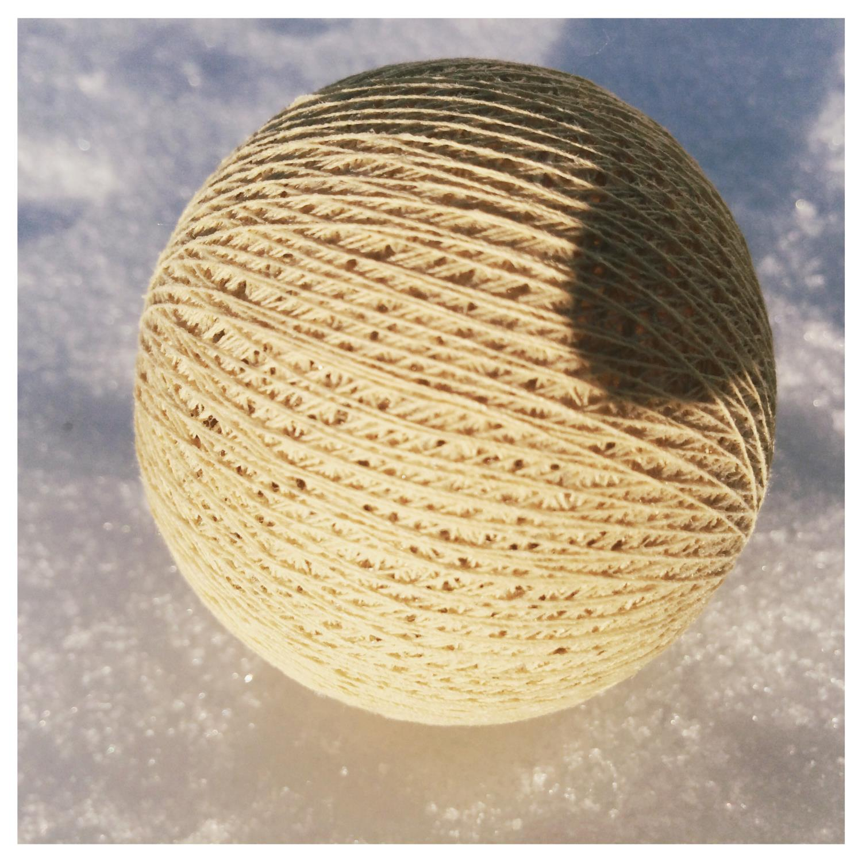 Cottonballs BEIGE Ø7cm