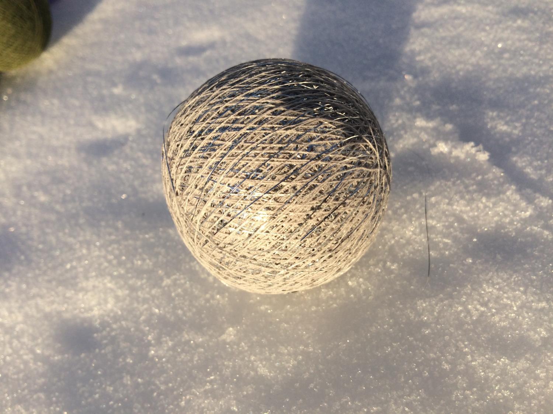 Cottonballs CREME M/SØLV Ø7cm