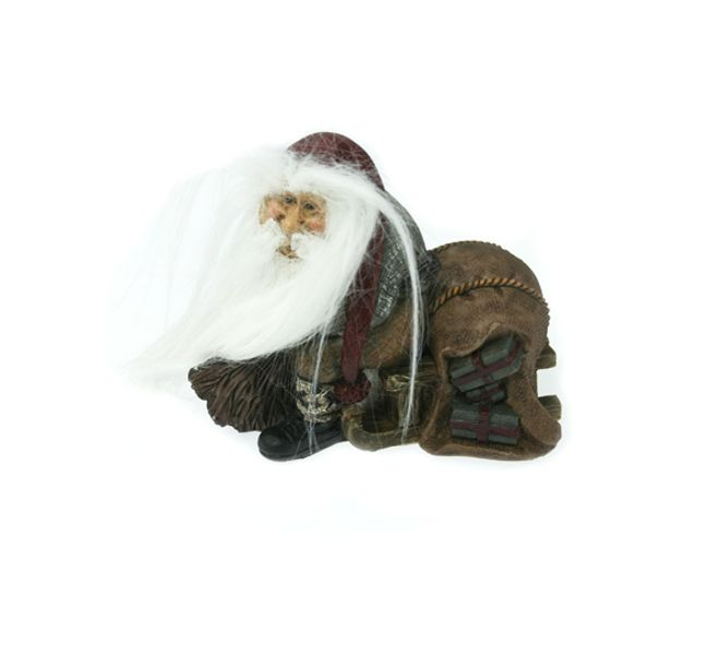 Gammelnissen - Figur Nisse med kjelke og gaver