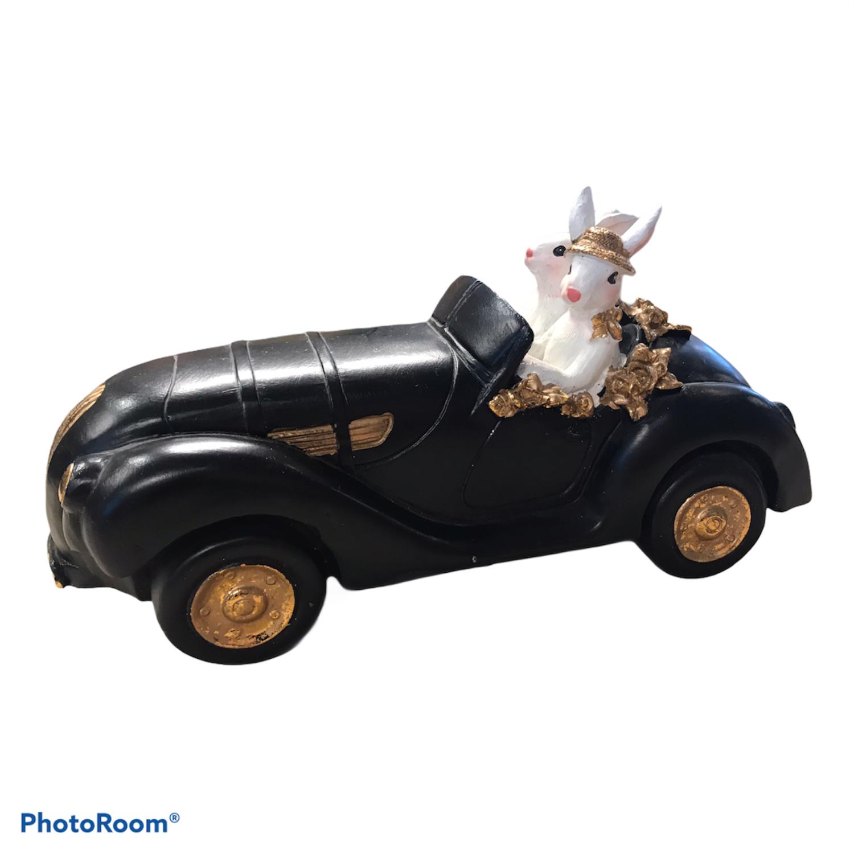 Kaninpar i bil sort