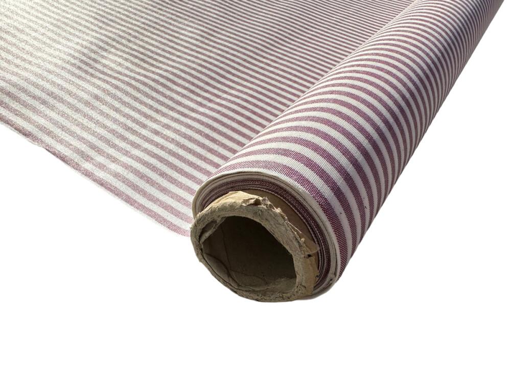 Voksduk metervare Degas burdeos rød stripet